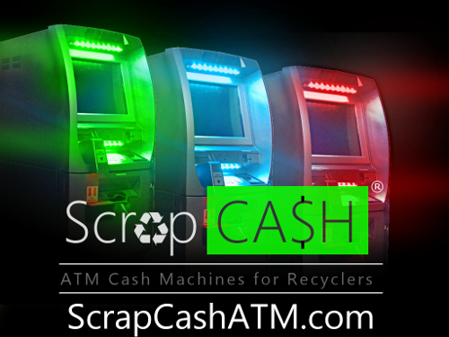 Nexus integrates seamlessly with ScrapCash ATM machines.ScrapCash ATM's allow you, as an owner or manager, to remotely approve or deny ATM payments over a certain amount.The customer is given a pin number and barcode at the payment window, which they take to the ATM to get paid.The ATM machine requires the customer to sign on the screen indicating receipt of payment, it takes a picture of the customer, and then pays them.With a ScrapCash ATM, you could eliminate your cashier person saving you $20k-$40k per year!